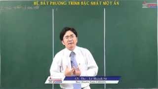 Bài giảng đại số 10 - Bất đẳng thức, bất phương trình - Hệ bất phương trình bậc nhất một ẩn