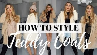 HOW TO WEAR TEDDY COATS (IN 2018!) | BORG JACKET / I AM GIA PIXIE COAT DUPE | 5 WINTER OUTFIT IDEAS