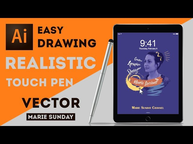 How to Draw a Touch Pen in Illustrator CC