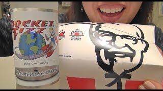 ASMR: KFC  Fried Chicken  Marshmallow Soda  Gluten Free Vegan Pumpkin Pie  Eating Sounds