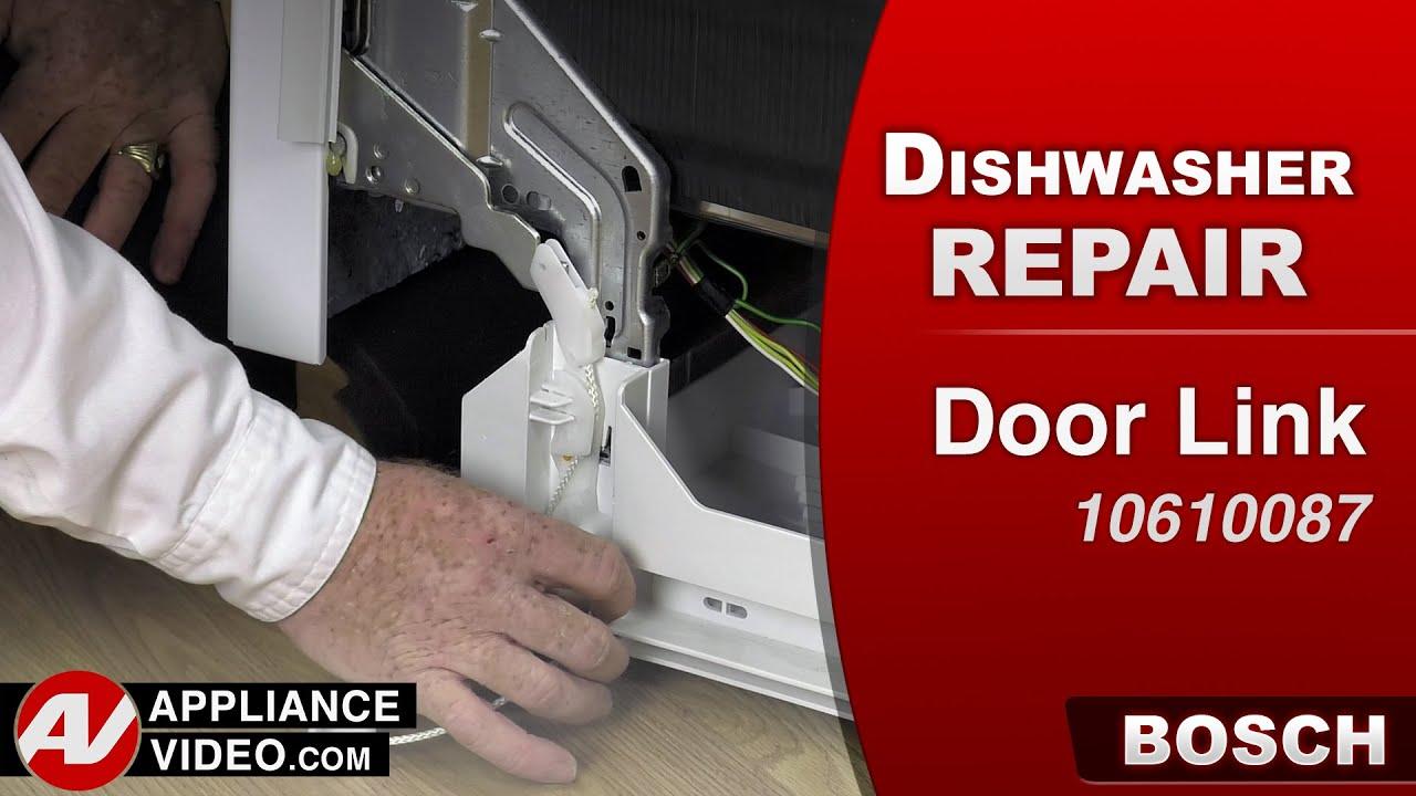 How To Fix A Dishwasher >> Bosch Dishwasher - Door Link repair - YouTube