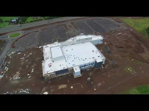Aerial View of Green Pastures Super Village Construction in Ballymena Pt 7 (4K)