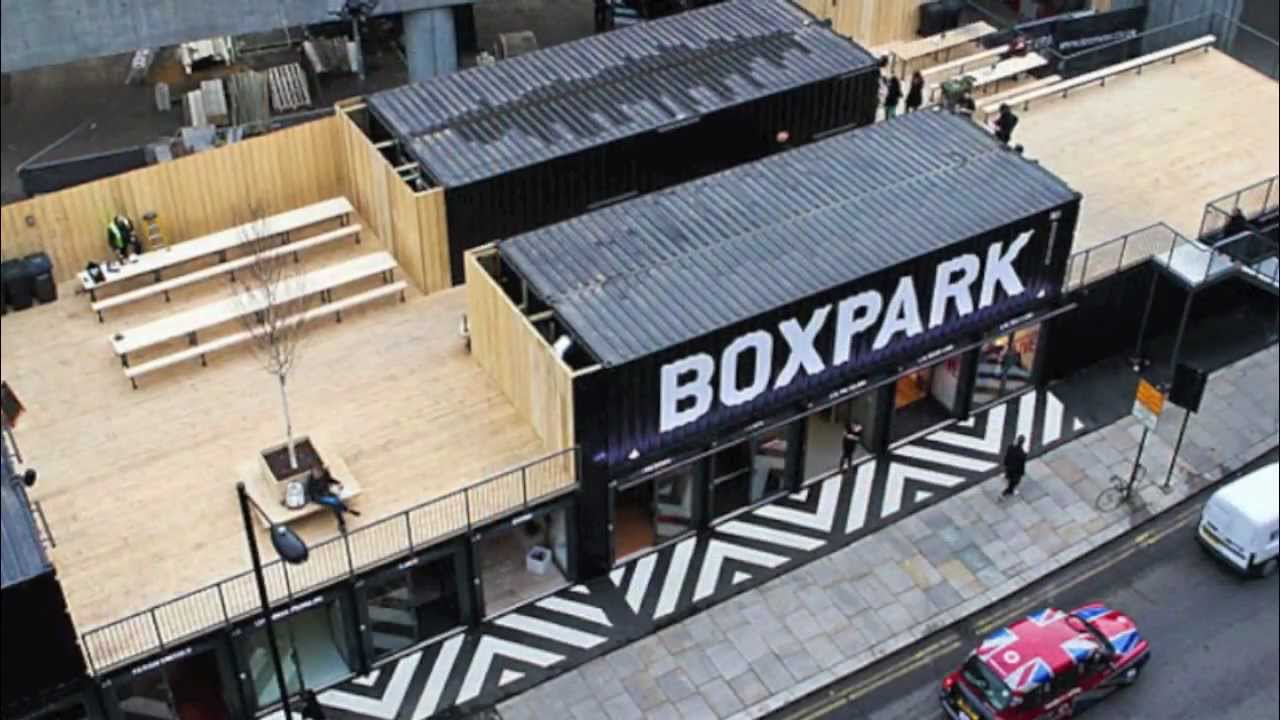 prefab shipping container home boxpark shopping mall   youtube