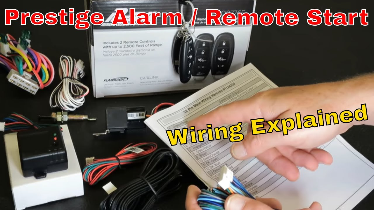 Pursuit Prestige Aps997e Alarm Remote Start Wiring