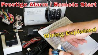 Pursuit Prestige APS997e Alarm Remote Start Wiring Explained In Detail
