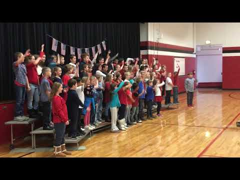 Seagrove Elementary School Veterans Day celebration - 2018