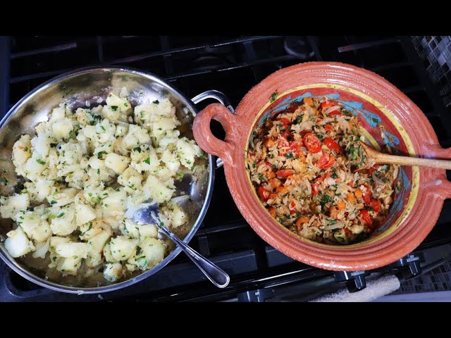 Cassava With Stewed Salted Cod (My Lunch) | CaribbeanPot.com