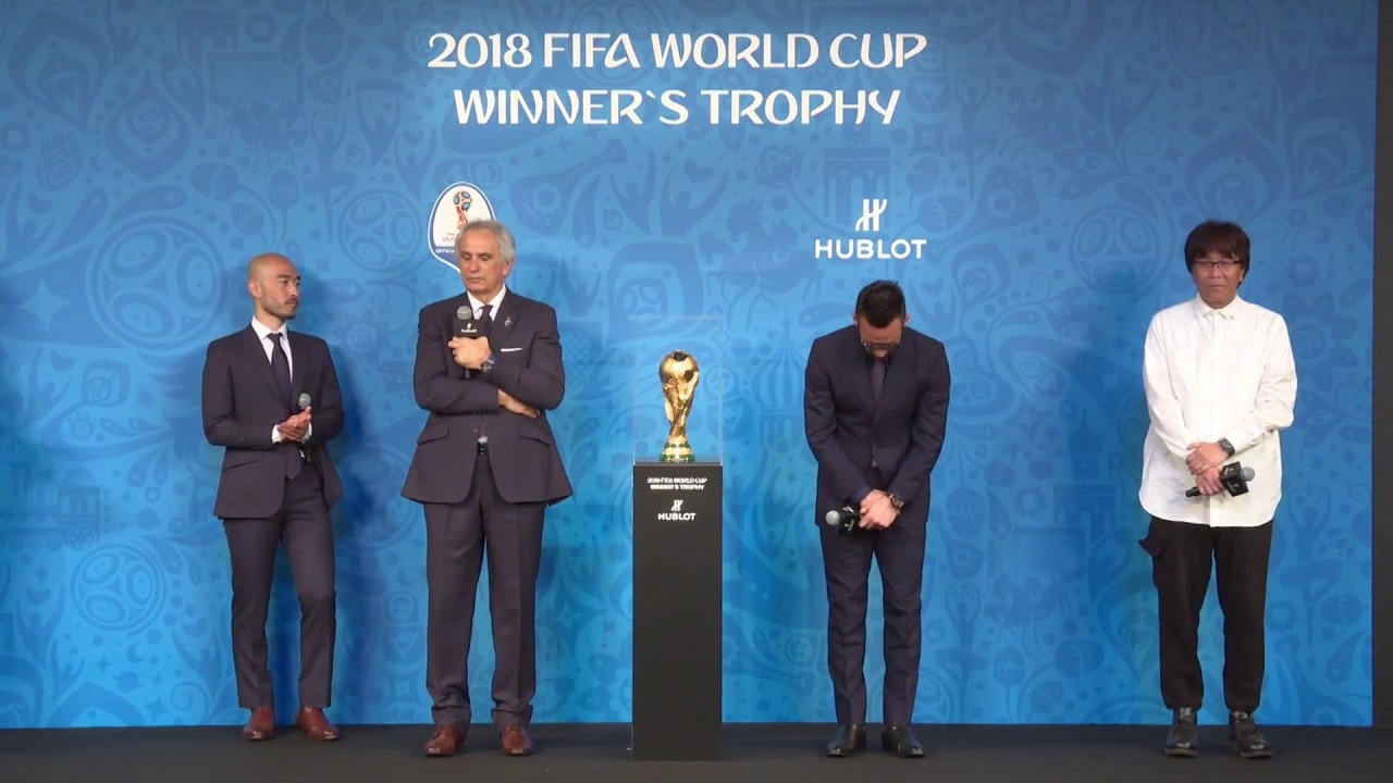 FIFA WORLD CUP WINNER'S TROPHY PRESENTED AT OUR POP-UP BOUTIQUE IN OMOTESANDO