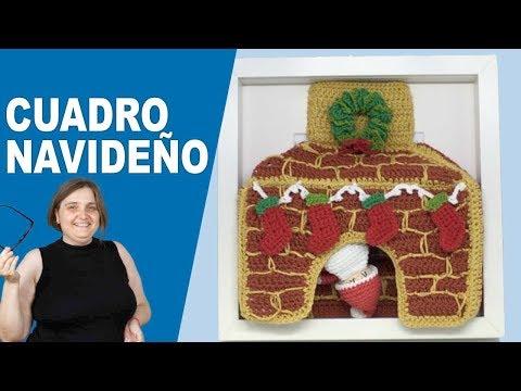 Cuadro navideño amigurumi, presentación