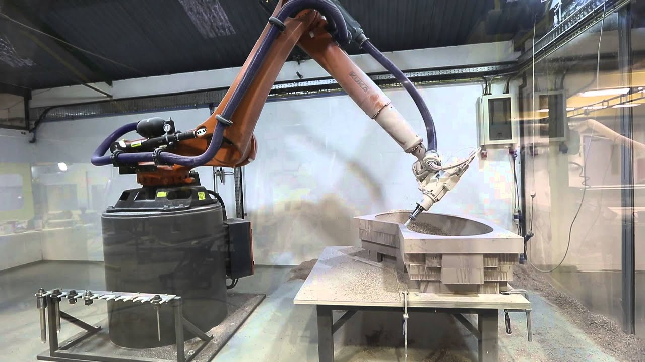 Kuka KR120 6 axis CNC robot in action