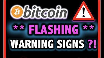 ALERT!! BITCOIN FLASHING WARNING SIGNS?!! 🛑 Crypto Analysis TA Today & BTC Cryptocurrency Price News