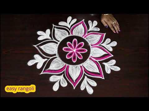 Beautiful freehand rangoli designs with colors || creative kolam designs || muggulu designs