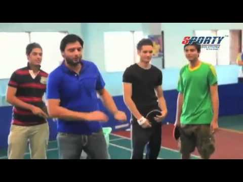 Shahid Afridi shows spin bowling skills with table tennis ball thumbnail