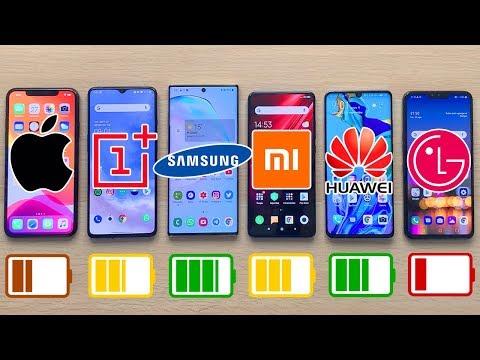 IPhone 11 Pro Max Vs OnePlus 7T Vs Galaxy Note 10+ Vs Mi 9T Pro Vs P30 Pro | TEST BATERIA EXTREMO!!