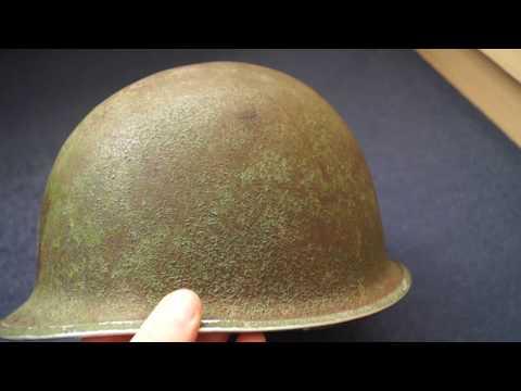 World War Two US M1 Fixed Loop (Schlueter) Helmet