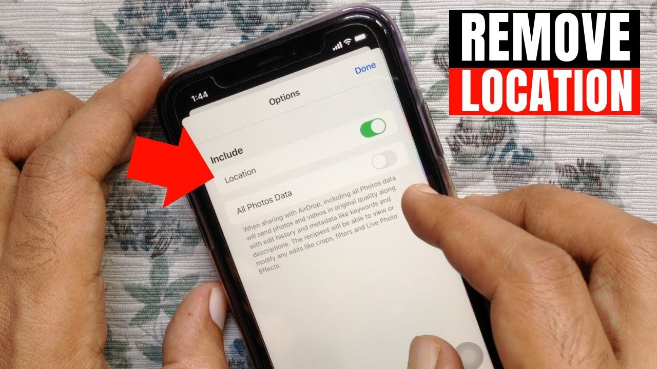 Remove Location Data From Photos and Videos On iPhone