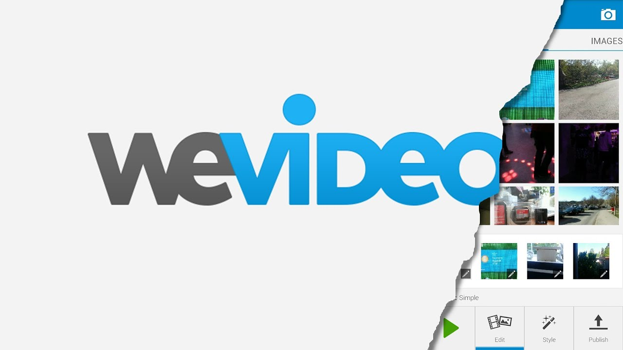 Wevideo mobile video editing app test - YouTube
