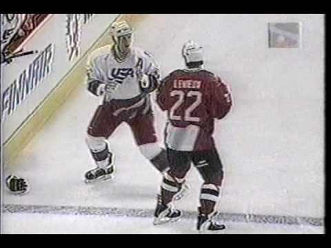 Canada vs USA Brawl World Cup 1996 Keith Primeau vs Bill Guerin & Claude Lemieux vs Keith Tkachuk