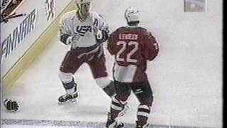 Canada vs USA Brawl World Cup 1996 Keith Primeau vs Bill Guerin R2 & Claude Lemieux vs Keith Tkachuk