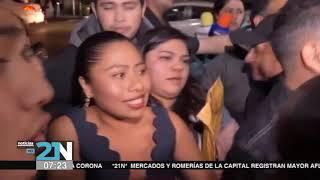 Yalitza Aparicio recibió premio orgullo de mi Ciudad por parte de colectivo lésbico gay