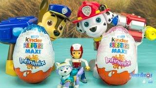 Kinder Surprise Maxi infinimix garçons et filles #français 4k Pat Patrouille Paw Patrol Canina
