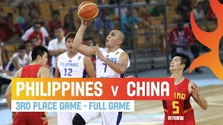 Philippines v China - Full Game 3rd Place Game - 2014 FIBA Asia Cup