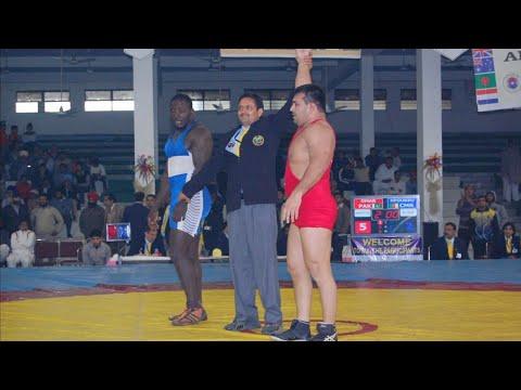 Muhammad Umar Pehlwan Rustam Pak o Hind Beat Cameron wrestler in Commonwealth wrestling championship