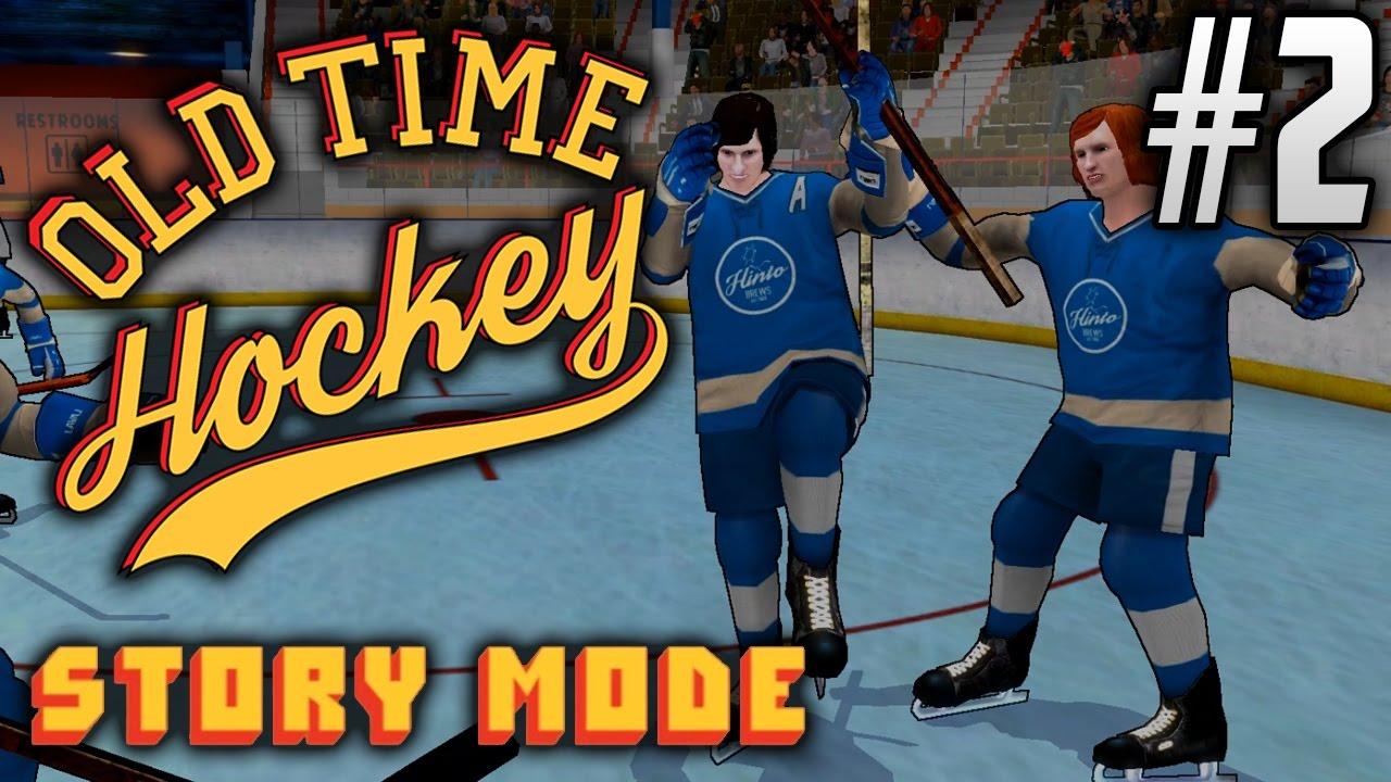 old time hockey pc story mode ep2 finally scoring youtube