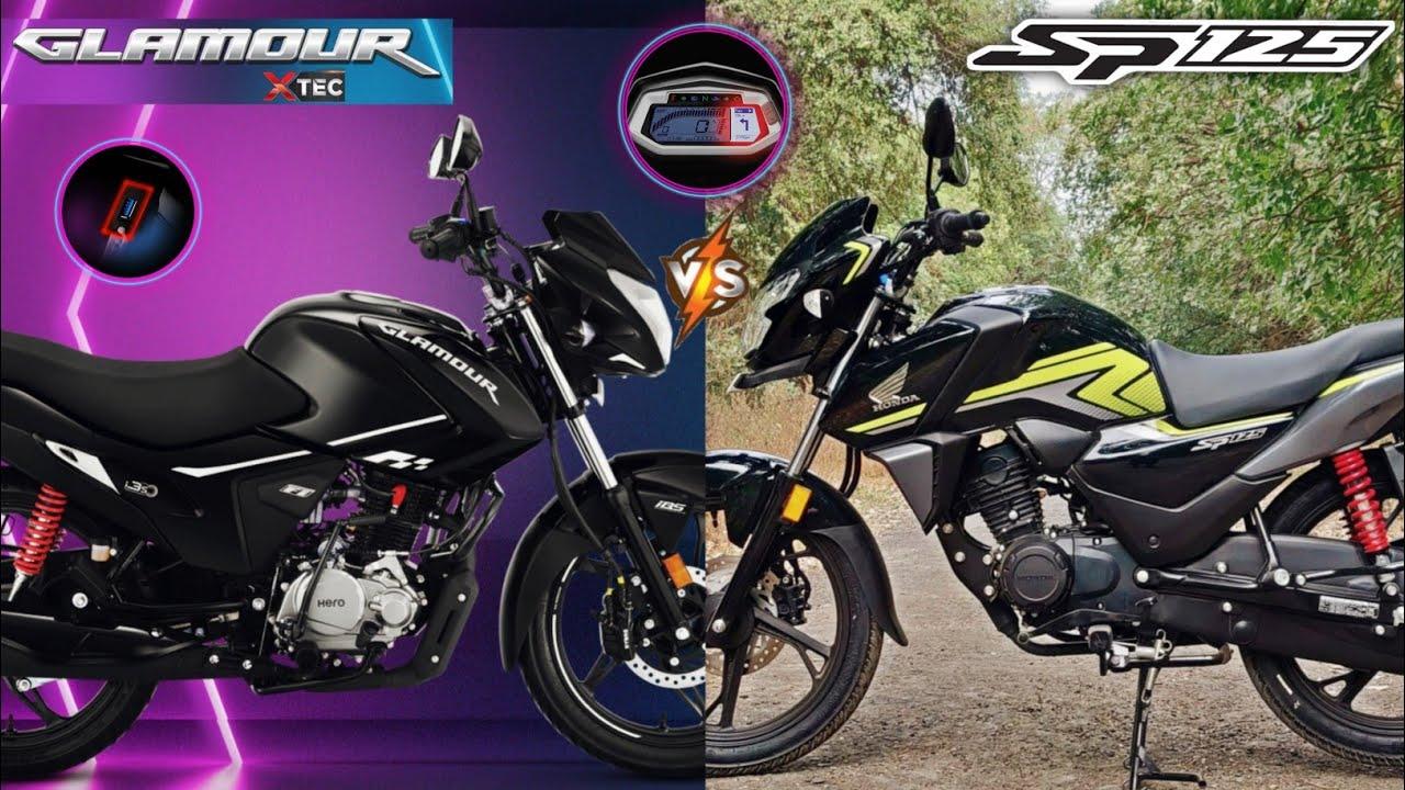New Hero Glamour Xtec Vs Honda SP 125 : Detailed Comparison | Hindi | SP125 BS6 Vs Glamour Xtec