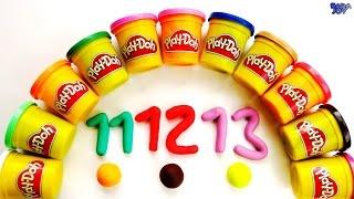 Aprender a Contar del 10 al 20 | Números Para Niños en Español, Los números en Play-Doh
