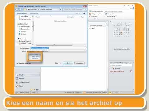 Outlook 2010 - pst bestanden maken