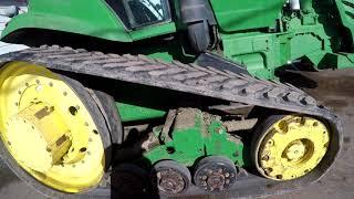John deere 8420t track removal