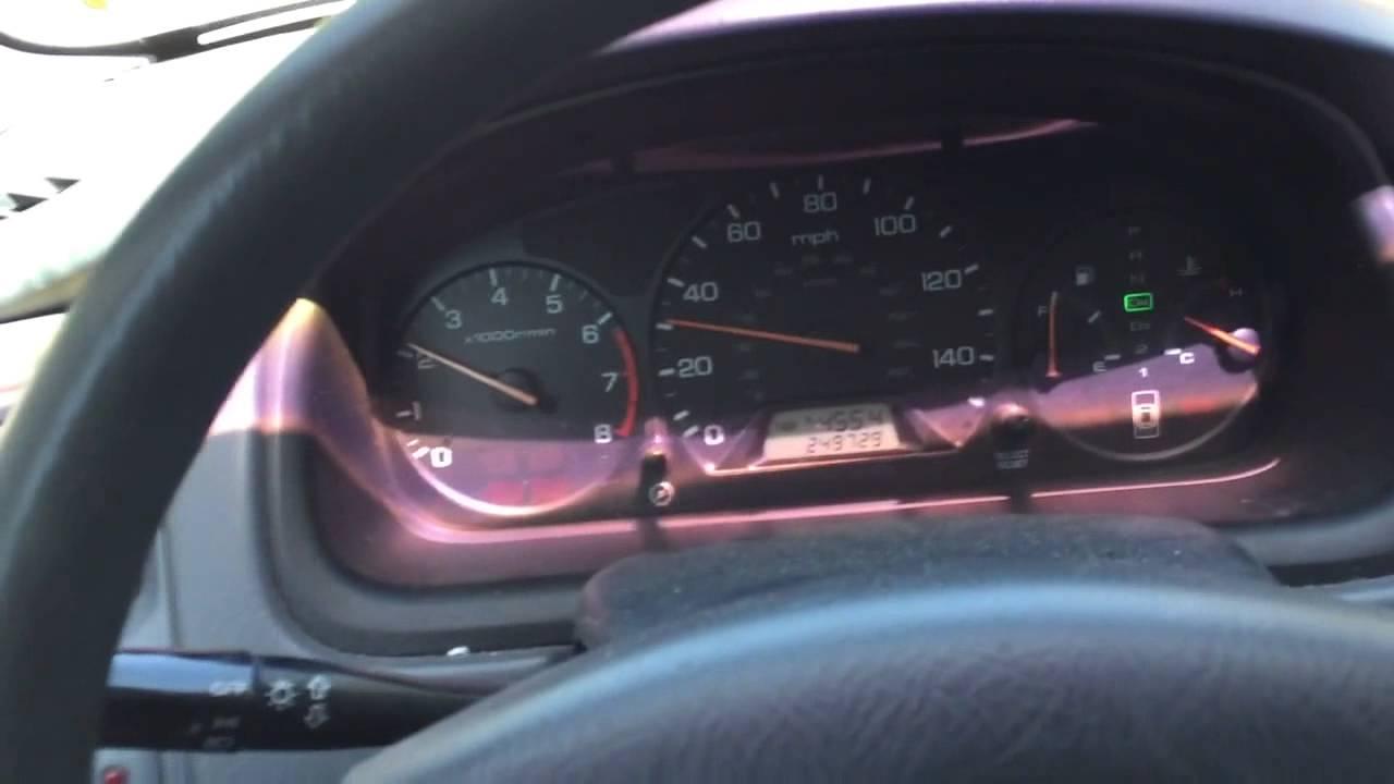 2001 Honda Accord Dashlight Turned On Battery Cleanup Alternator Test