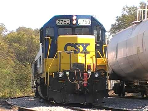 CSX A707-21 W/ Engineer Carolyn & Conductor Courtney Making A Pick Up At Lightfoot Mill Road Part 1