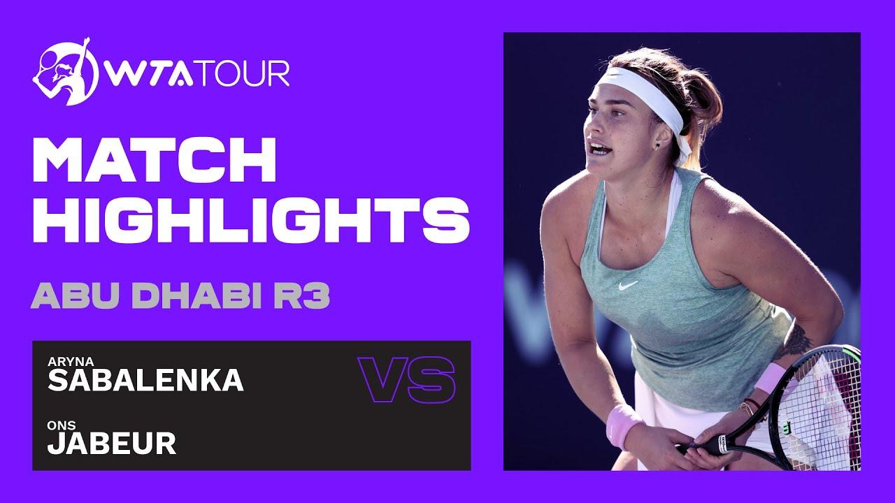 Aryna Sabalenka vs. Ons Jabeur | 2021 Abu Dhabi Third Round | WTA Highlights