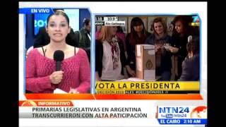 Ministro del Interior de Argentina entrega primeros resultados de las elecciones primarias