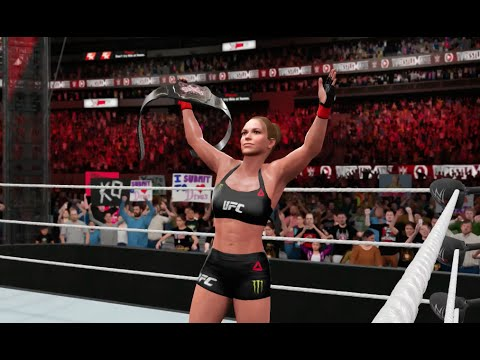 WWE 2K16 PS4  Ronda Rousey vs Charlotte Divas Championship Match Gameplay