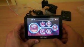 Автомобильный GPS-навигатор DIGITAL DGP-5061. Обзор основных функций.