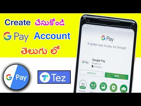 How To Create Google Pay  TEZ  Account In Telugu By Mahi Tech Info