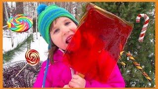 Как сделать ГИГАНТСКИЕ леденцы на палочке в домашних условиях how to make lollipops at home