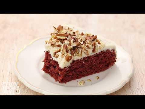 Low Carb Sugar Free Red Velvet Cake