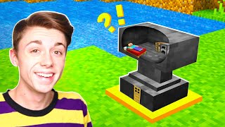 I BUILT a Minecraft House INSIDE an ANVIL!?