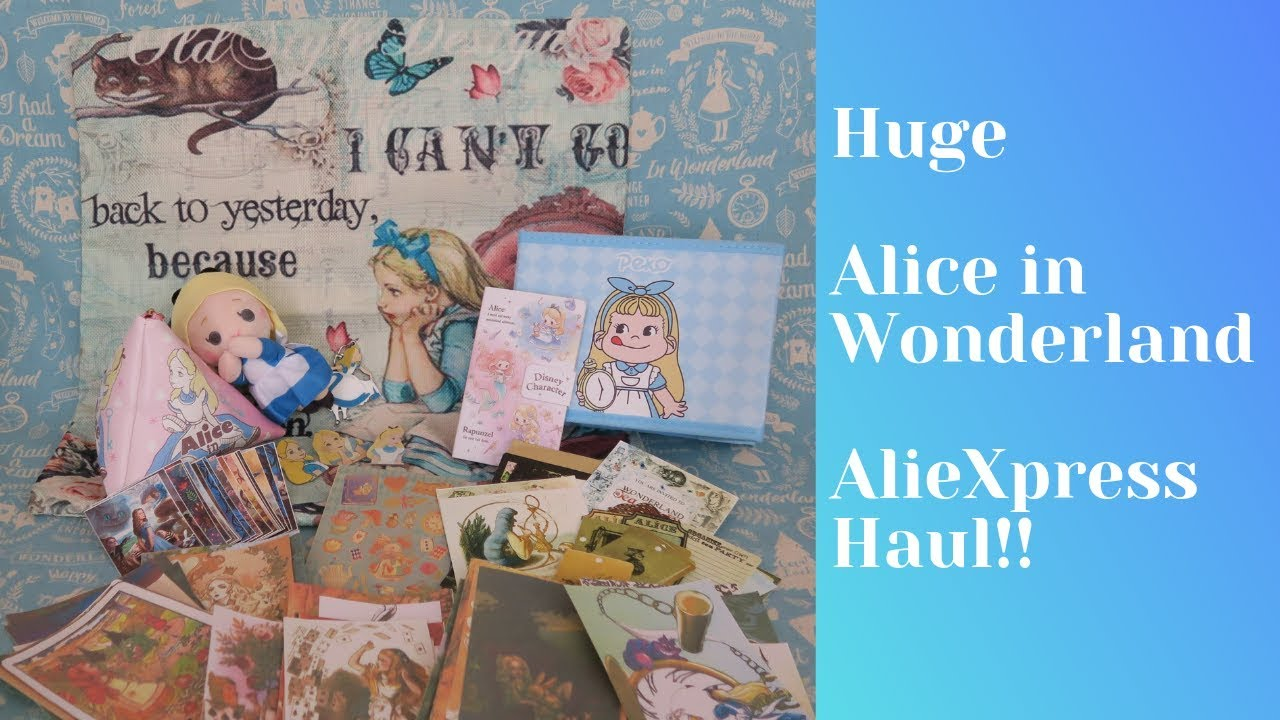 Huge alice in Wonderland AlieXpress Haul!!