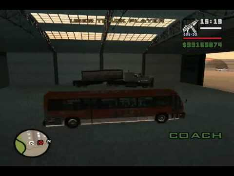 Gta san andreas bus garage at the airport mod gtainside. Com.
