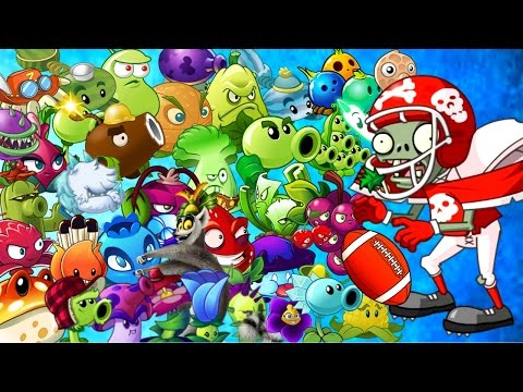 Plants vs. Zombies 2 it's about time: ALL STAR Zombie vs Every Plant Power Up