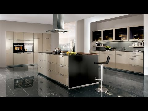 Beautiful modern fitted kitchens - stainless steel & glass worktops at Habitat UK