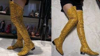 Women The Knee Boots  Low Heels.(US $67.33 )