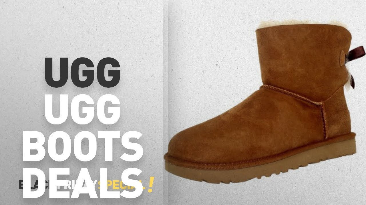 d26959e7ba2 Walmart Top Black Friday Ugg Boots Deals: Ugg Women's Mini Bailey Bow  Chestnut Ankle-High Suede Boot