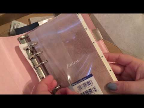 Domino Soft Filofax UNBOXING in Pocket and Personal Pale Pink New Planner