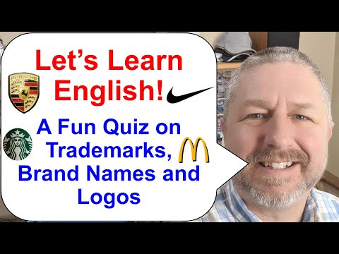 Let's Learn English! Join me for a Fun Quiz about Trademarks, Brand Names, and Logos
